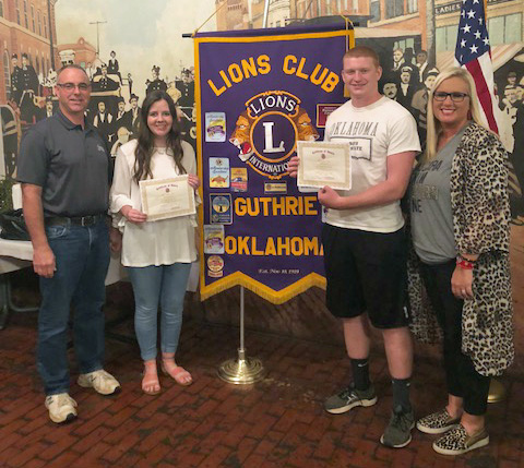 Huskey, Raney named Students of the Month by Lions Club