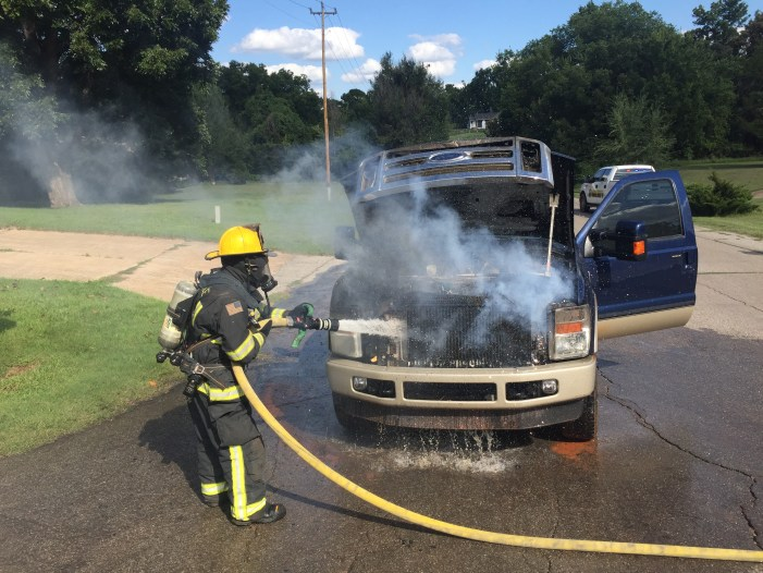 Video: Vehicle catches fire at Guthrie intersection