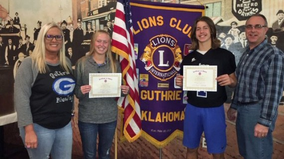 Lions Club announces October Students of the Month
