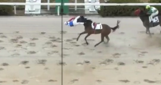 Japanese jockey finishes race before his horse…