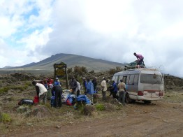 Our porters pack up for the journey ahead as we are dropped off in what feels like the middle of nowhere