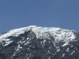 From Base Camp we got a good view of the Kilimanjaro glaciers. A 2012 study by NASA concluded that they could disappear as early as 2020 due to global warming.