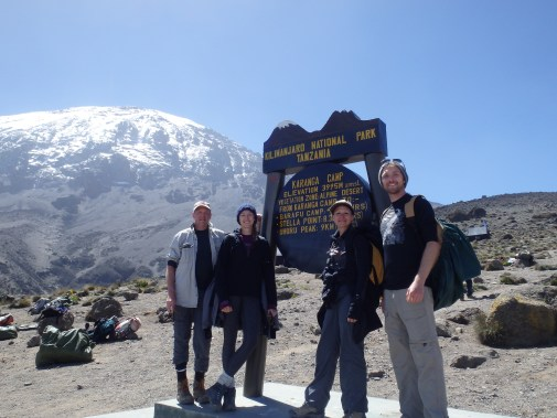 Our family at Karanga Camp - the one just before Barafu Base Camp