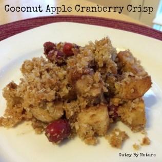 Coconut Apple Cranberry Crisp