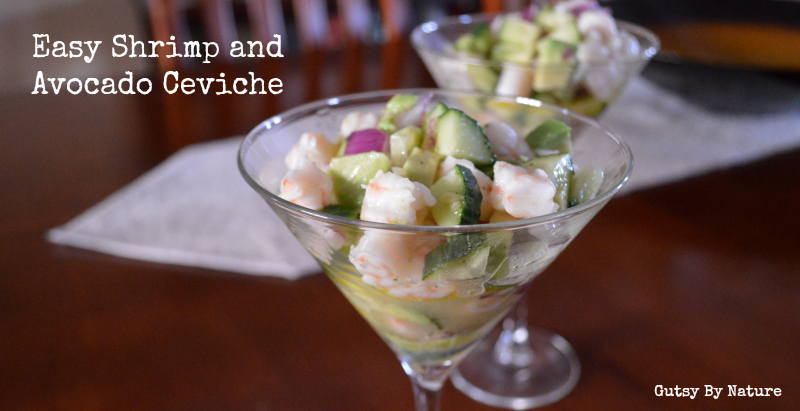 Easy Shrimp and Avocado Ceviche - Gutsy By Nature
