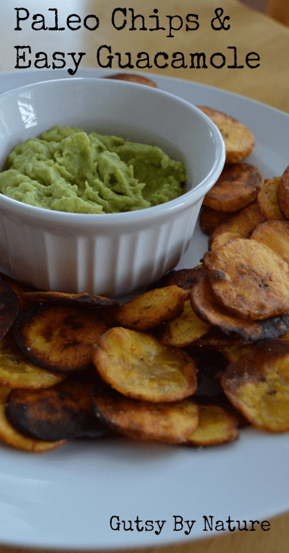 Paleo Chips and Guacamole