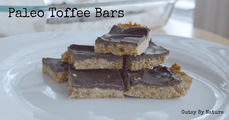 Paleo Toffee Bars