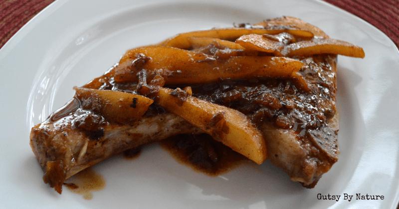 Pork Chops with Pear Shallot Sauce