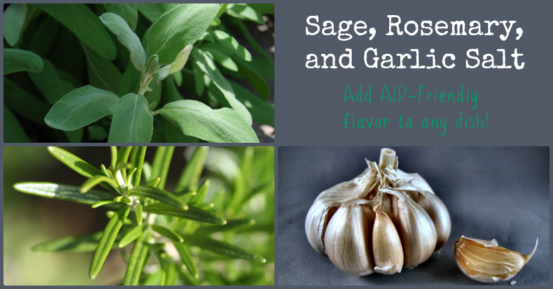 Sage Rosemary Garlic Salt