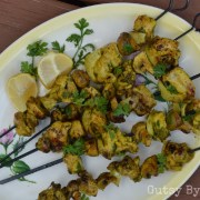 Mushroom and chicken kebabs aip