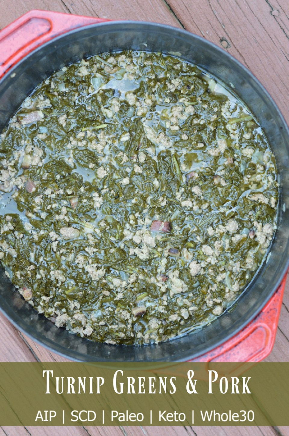 turnip greens with pork dutch oven