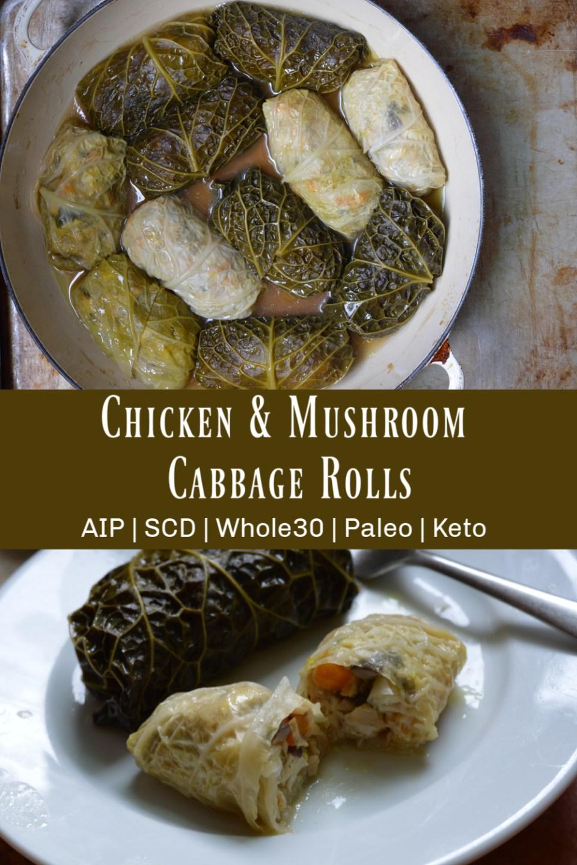 Chicken & Mushroom Cabbage Rolls (AIP)