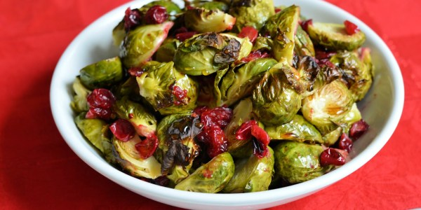 Roasted Brussels Sprouts with Cranberries (AIP, SCD)