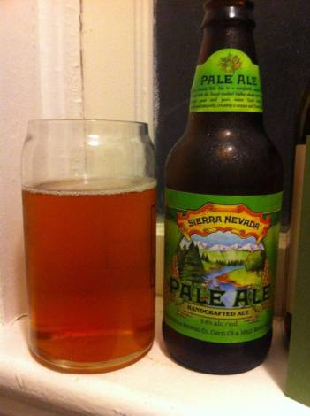 Sierra Nevada Pale Ale, by Sierra Nevada Brewing Co. in Chico, CA. 5.6% ABV.