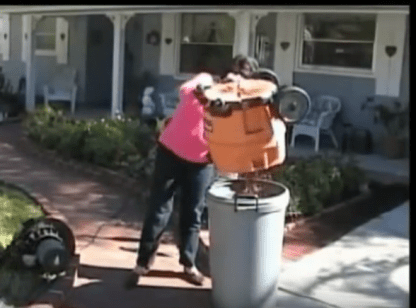 All the debris gets collected for easy cleanup