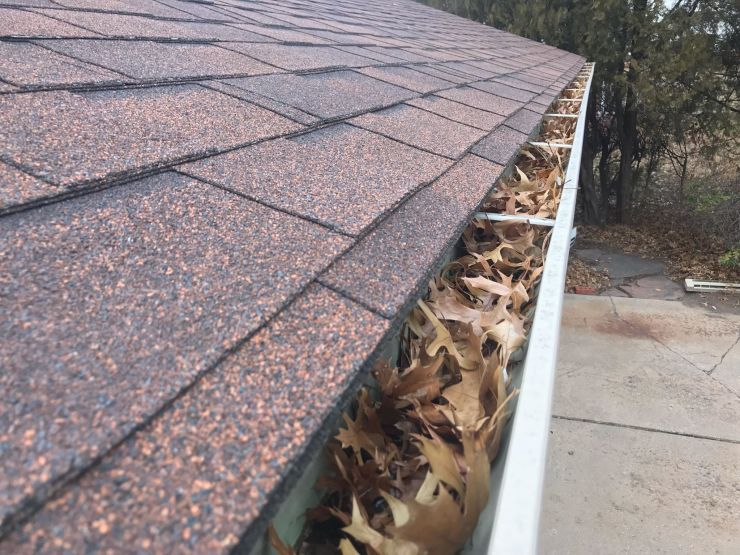Dirty gutters protect your home from spring rains