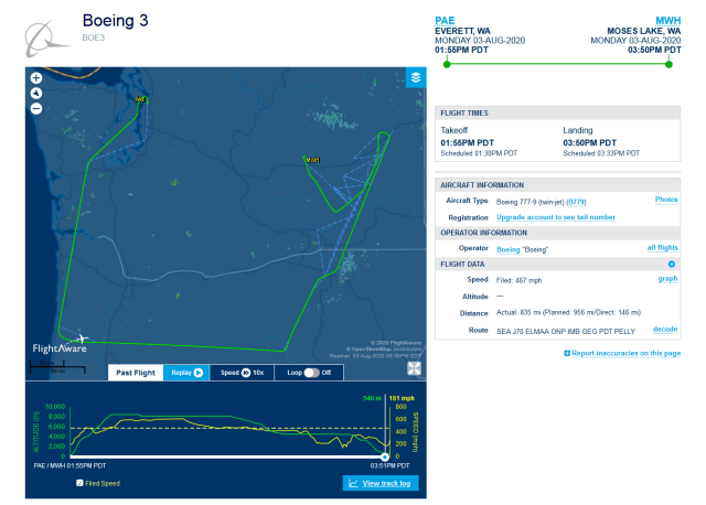 BOE 3 Flight Tracking