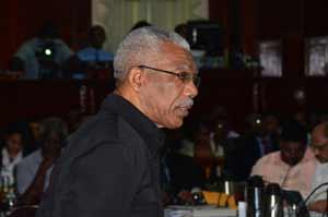 Opposition Leader, David Granger, in the National Assembly yesterday