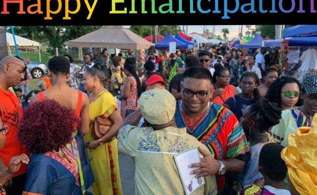 Emancipation Day Message From Dr Irfaan Ali Gsa News