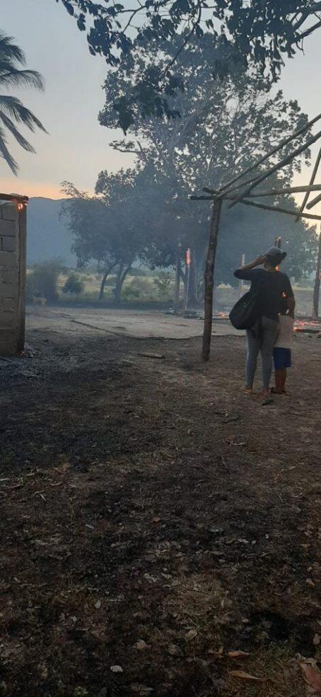 House Gutted by Fire in Moco Moco Village, Region 9