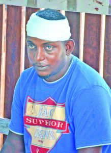 An injured Kishan Singh who was beaten by the bandits