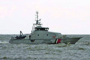 The Suriname Coast Guard on patrol