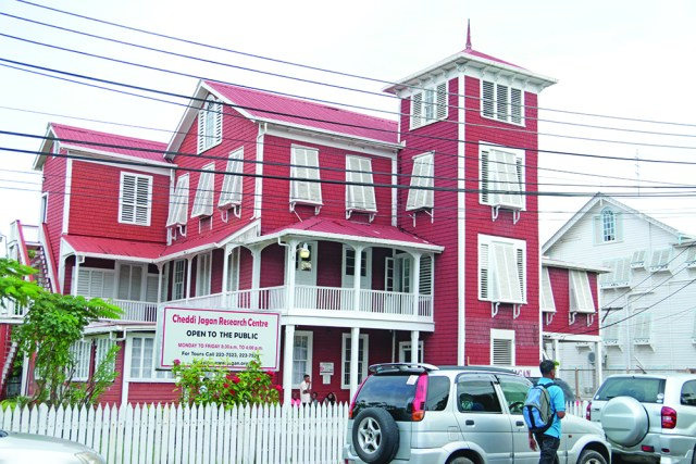 The Red House which houses the Cheddi Jagan Research Centre