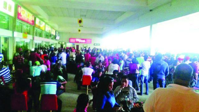 Stranded passengers  of Dynamic Airways December last