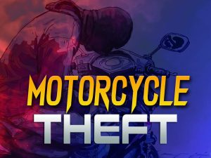Gunmen steal a motorcycle at traffic lights