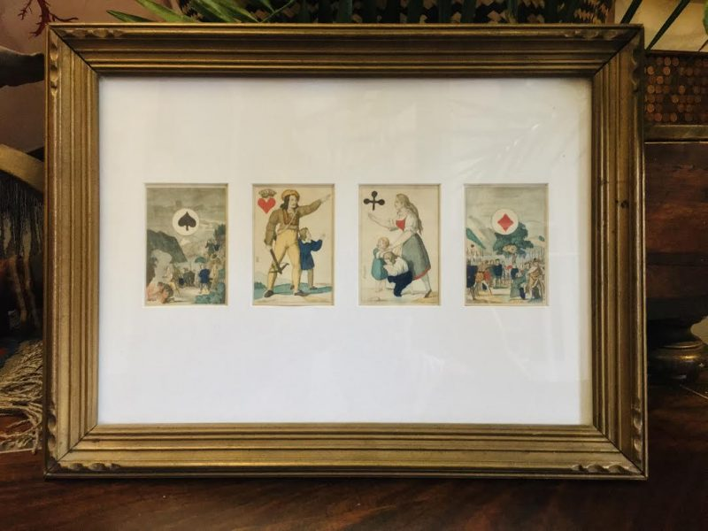 1800's Set of 4 Wilhelm Tell Playing Cards