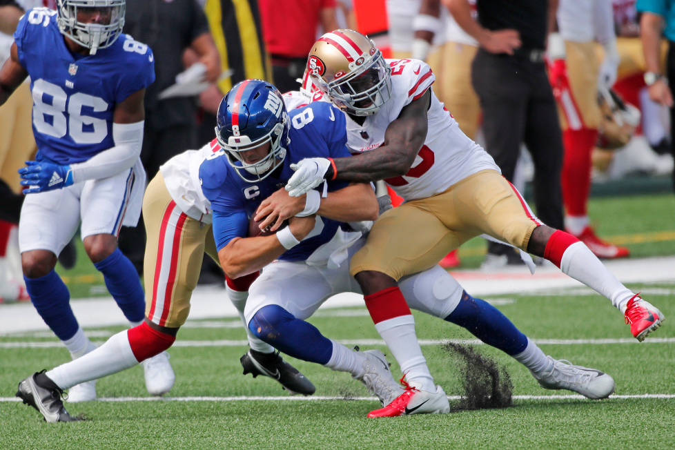 Giants Look Lifeless in 36-9 Loss to 49ers