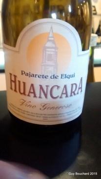 La version de Pisco que je préfère (un vin fort et sucré). Vino Generoso selon l'étiquette!