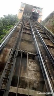 Rail d'un ascenseur
