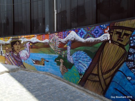 L'art de rue est très présent