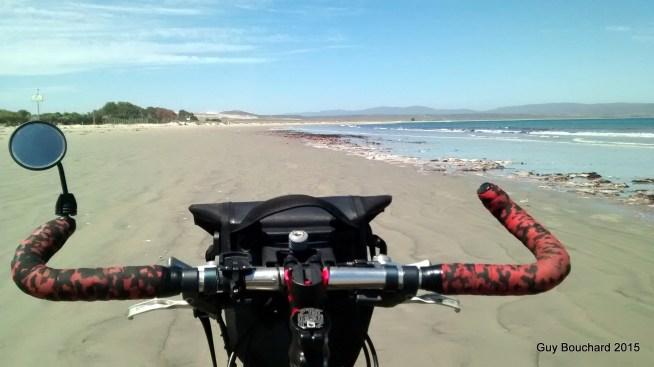 Je roule sur la plage de Tongoy