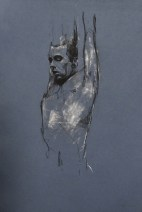 """Paradiso preparatory sketch"", conte and chalk on paper, 30 x 50 cm, 2012,"