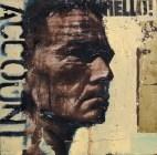 """get me God's accountant"", oil on canvas, 30 x 30cm"