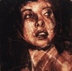 """maybe she's born with it"", oil on canvas, 30 x 30cm, 2008"