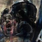 'Zeus and Cronus', oil on canvas, 30 x 30cm