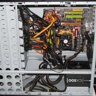 Wider view of fully setup internals.