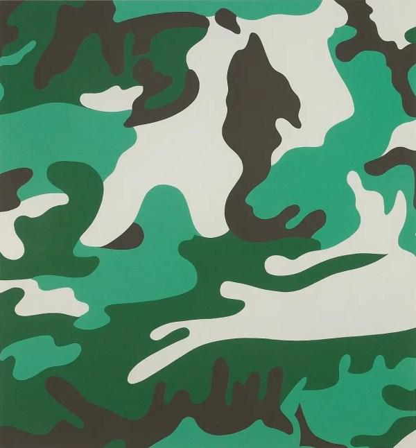 Camouflage Print Portfolio Andy Warhol - Guy Hepner