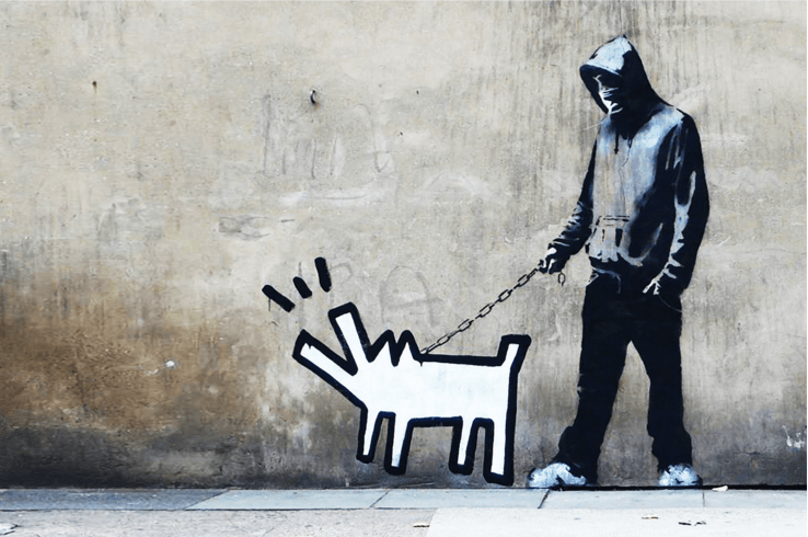 Boy And Girl Messages With Wallpaper Banksy Choose Your Weapon Guy Hepner