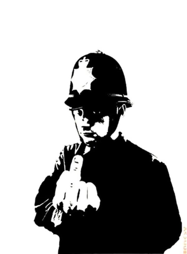 Rude Copper Banksy - Guy Hepner