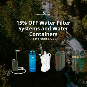 "SURVIVOR FILTER Announces Spring Sale and New American-Made Products and Category Introduction TORONTO – May 18, 2020 – Survivor Filter has announced a spring sale that will run from May 18-25 and offers 15% off current water filter systems and water containers at survivorfilter.com. The company has also announced a line of new home water filter systems. These additions to the lineup will be made in America and are ideal for any kitchen, bathroom or office sink. Those who are interested in being the first to learn more and purchase these directly can go to the website and sign up. Customers looking to add to their collection of water filters or containers for the backcountry, open road or favorite camping spot can take advantage of the 15% discount on some of Survivor Filter's most popular choices. This spring Survivor Filter has seen unprecedented demand for its products. The company has been able to increase production to meet demand, and has several new products coming soon. A few top sellers continue to be the Pro Pump, American-Made Active-Filtration Bottle and others. ""We know this has been a challenging and stressful time for all of us,"" SURVIVOR FILTER Owner Mark Zakaib said. ""We've been amazed at how many people have looked to our brand and products during this time of personal, professional and family strain and uncertainty. We take that trust seriously, and have used this time period to make some exciting progress. ""Soon after the spring sale, we will have full details on a great start to new American-made products for 2020 and beyond. This will include easy-to-install, make sense inline filters for your home, office or cabin/cottage. We are also working on more revolutionary Made in USA products that outdoor enthusiasts and first responders can trust in the field, on the job or wherever they find themselves in need of clean, safe hydration. We wish everyone the best as we continue to navigate these unprecedented times and we look forward to providing even more solutions to keep families and individuals across the world safe and healthy."" Survivor Filter Comes Home With American-Made Water Filters Until now, Survivor Filter has focused on mobile clean water solutions. That will change in the very near future with Survivor Filter Home. These inline water filters will be affordable, quick and easy to install in all homes. One system will remove 99.9% of contaminants including chlorine, lead, volatile organic compounds (VOCs), sediment, pesticides, fuel residue and chloroform. Another system will remove fluoride, heavy metals, VOCs, toxic chemicals and more. These filters will last years in the average home and are compatible with basic plumbing set ups in kitchens, bathrooms, and offices. Everyone interested in being the first to learn about and purchase these new home systems should sign up here. The eNewsletter is also a great way to get the latest information, offers and announcements from the company. Of Course, US customers can still find in-stock filters and supplies at SurvivorFilter.com."