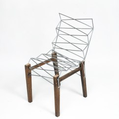 Chair 1 2 Skyline Accent Chairs Into With The Addition Of 6mm Steel Rod A Kind Intensive Repair But Also Way To Forge New Identity For An Object Made Anonymous By