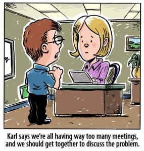 Cartoon of a meeting