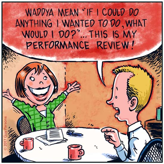 Performance review cartoon