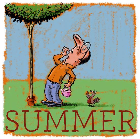 Gardener celebrates summer