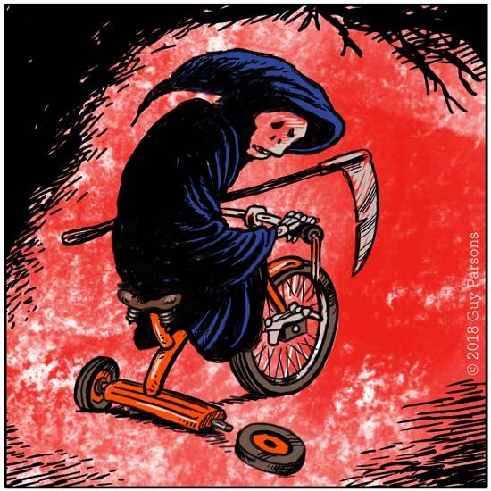 Death loses a wheel