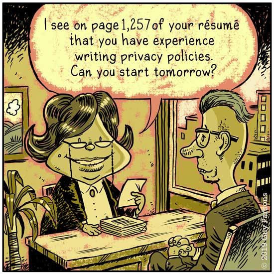 Privacy policy cartoon